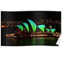Vivid Opera House from the bridge Poster
