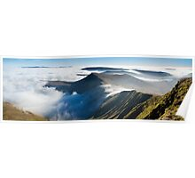 Cribyn, from Pen y Fan, Brecon Beacons National Park, Wales. Poster