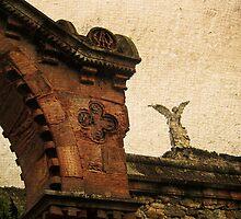 Comillas Cemetery & Exterminator Angel, Cantabria, Spain by buttonpresser