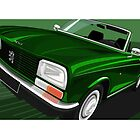 Peugeot 304 Convertible Illustration by Autographics