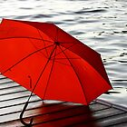 Red Umbrella by Karyn Boehmer