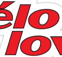 (cer)velo love Sticker
