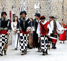Medieval soldiers of Dubrovnik, Croatia by Sheldon Levis