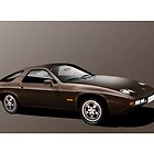 Porsche 928 Illustration by Autographics