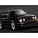VW Golf GTI MK2 Illustration by Autographics