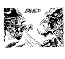 Alien vs Predator Comic Book Style Image by chrisjh2210