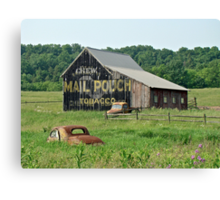 Old Shed Mail Pouch Tobacco Canvas Print