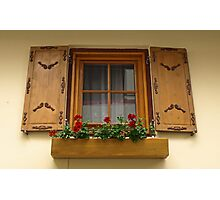An Austrian Window Photographic Print