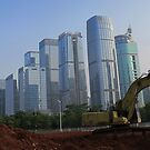 Shenzhen construction, China by Chris Millar