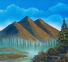I will lift up my eyes to the hills - Oil Painting by Rick Short