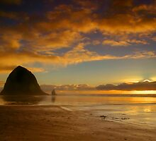 Sunset at Cannon Beach by Mary Ann  Melton