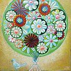 Green Flowers by Lana Wynne