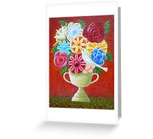 A Vase Of Flowers Greeting Card