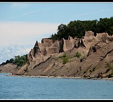 Chimney Bluffs State Park on Lake Ontario  by Rose Santuci-Sofranko