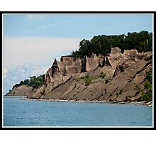 Chimney Bluffs State Park on Lake Ontario  Photographic Print