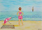 Young girl and sea II by Solotry