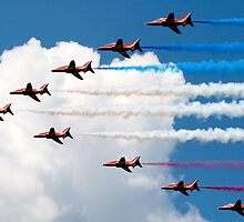 Red Arrows by Sally P  Moore