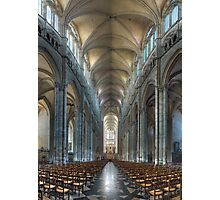 Nave, Amiens Cathedral, Somme, France Photographic Print