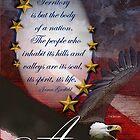 American Eagle Patriotic Card by William Martin