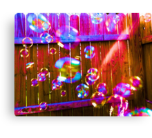 Excitement is in the Air - Colorful Bubbles Canvas Print