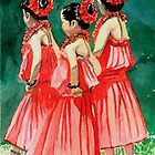 Halau sisters by mikalaartist