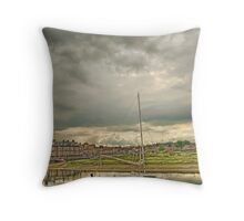 Storm clouds over Blakeney Throw Pillow