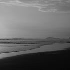 sarapampa sunset in black and white by Iris Mackenzie