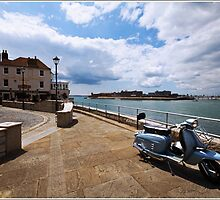 Portsmouth Harbour / Moped by haynes99
