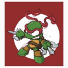 Tiny Mutant Ninja Turtles-Raph by Mike Victa