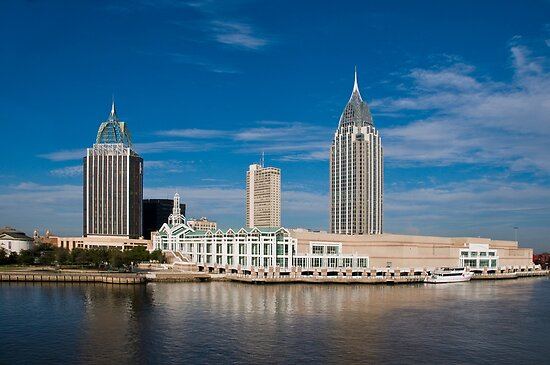 Mobile, Alabama Skyline by Tad Denson