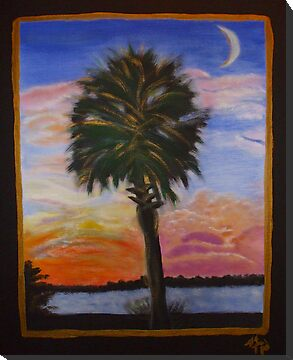 Palmetto Sunset by Karen L Ramsey
