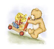 Teddy Toy Cart by Amanda Francey