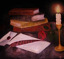 Anticipation by candle light by Sonia Hruska
