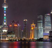 Pudong in Shanghai by Steen Nielsen