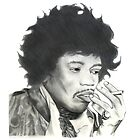 Jimi Hendrix - Sketch by axemangraphics