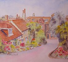 Hythe - Cottages near the church by Beatrice Cloake