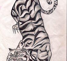 pouncing tiger by bitsycabana