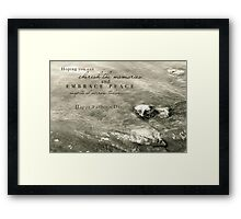 Embrace Peace and Cherish Memories on Father's Day Framed Print