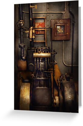 Steampunk - Back in the engine room by Mike  Savad