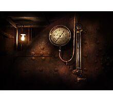 Steampunk - Boiler Gauge Photographic Print