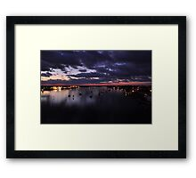 Before Sunrise on Mantazas Pass Bridge Framed Print
