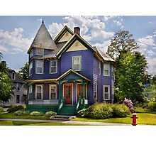 House - Victorian - Waterbury,VT - There lived an old lady who lived in a house Photographic Print