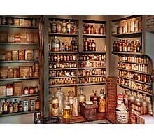 Pharmacy - Get me that bottle on the second shelf Photographic Print