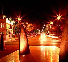 Geelong Sail Sculptures & Night Traffic by Jenna Florescu