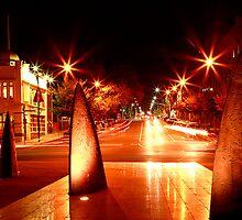 Geelong Sail Sculptures & Night Traffic by Jenna Florescu