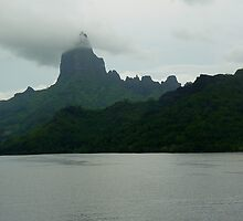 Sailaway from Moorea French Polynesia by Keith Richardson