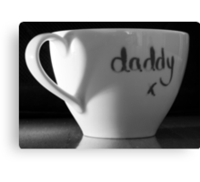 Daddys Favourite Mug Canvas Print