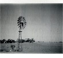 Windmill, dust bowl by Melissa Drummond