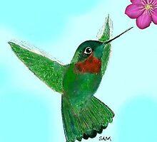 The flight of the hummingbird by Samohsong