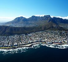 Aerial View over Cape Town, South Africa by Magic-Moments